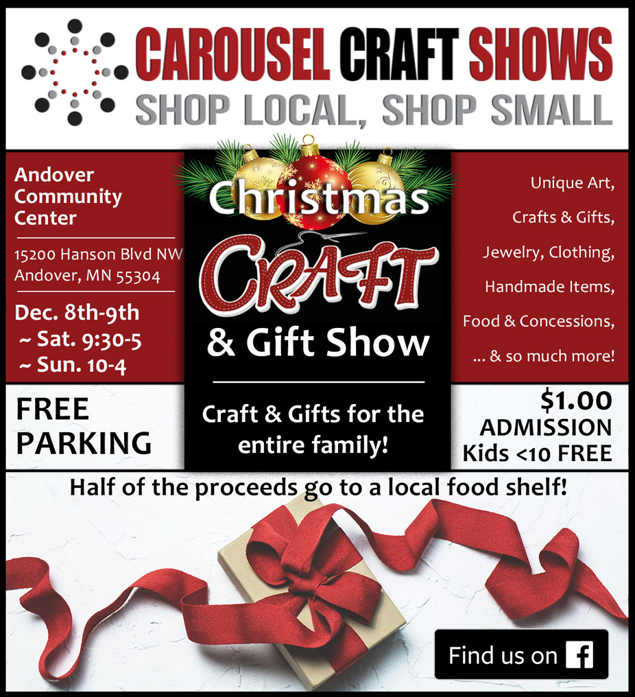 All craft shows are advertised across social media, vibrant signage on location, email, website, print materials, and/or tv/radio segments.